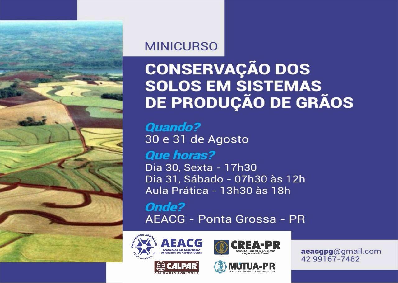 AEACG promove mini curso sobre conservação de solo